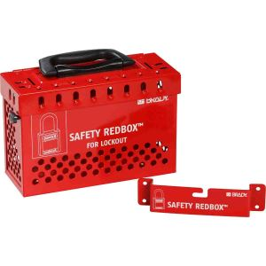 Safety Redbox Group Lockout Box - Red