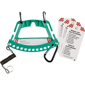 Safety Lock & Tag Carrier System  - Green