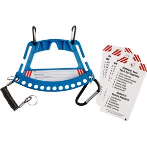 Safety Lock & Tag Carrier System  - Blue
