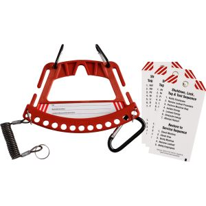 Safety Lock & Tag Carrier System  - Red