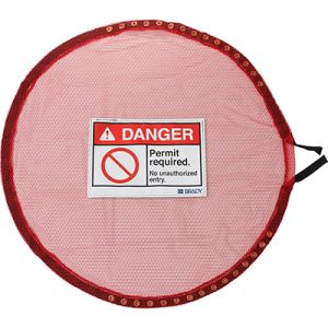 Lock Red Mesh Cover, Permit Req - Large