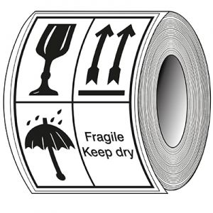 Packaging Labels - Fragile, This side up, keep dry