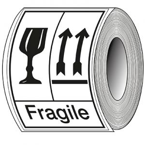 Packaging Labels - Fragile, This side up
