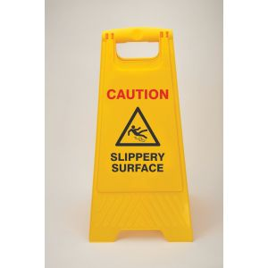 Heavy Duty Floor Stand - Caution slippery surface