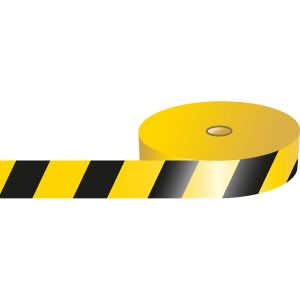 Striped Barricade tape - Black / Yellow