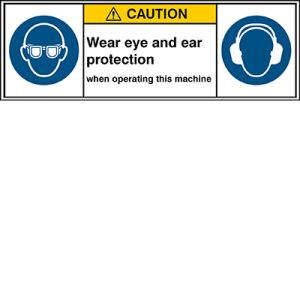ISO Safety Sign - Wear eye protection/Wear ear protection
