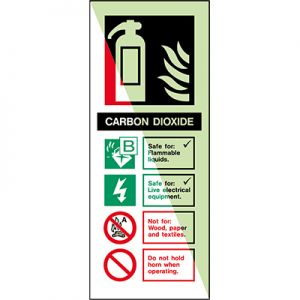 Glow-in-the-dark safety sign