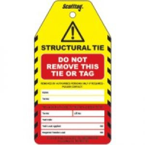 Structural Tie Test Tag
