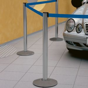 Retractable Barrier Belt - 3.5 Metres with Silver Posts