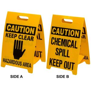 Economy Floor Stand - Caution chemical / Keep Clear