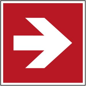 ISO Safety Sign - Direction arrow (90° increments), safe condition