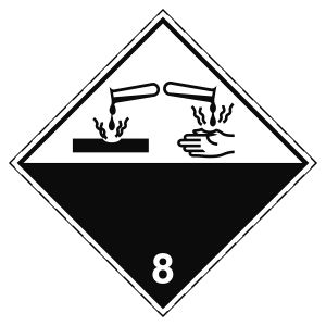 Transport Sign - ADR 8 - Corrosive substance