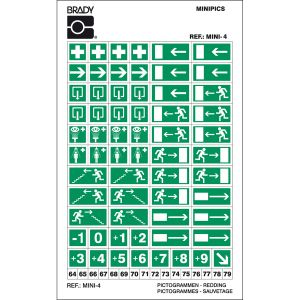 Mini-Pictograms - Mini 4: First Aid/Emergency escape