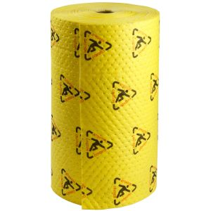 BrightSorb High Visibility Safety Absorbent Roll, 76 cm x 91.2 cm