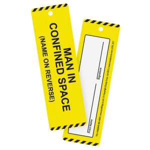 Man In Confined Space Tag