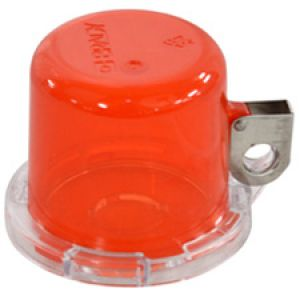 Push Button Lockout Device (16 mm), Red, with Standard Cover