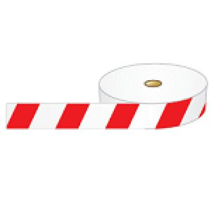 Striped Barricade tape - Red / White