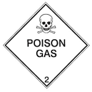 Maritime Transport Sign - IMDG 2A - Poison gas