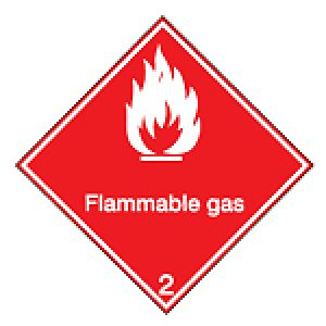 Maritime Transport Sign - IMDG 2D - Flammable gas