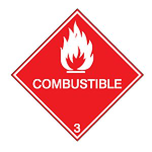 Maritime Transport Sign - IMDG 3B - Combustible