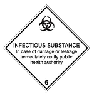 Maritime Transport Sign - IMDG 6D - Infectious substance