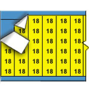 Wire Marker Cards - Solid Numbers on Coloured Background
