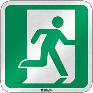 ISO Safety Sign - Emergency exit (right)
