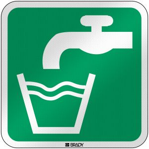 ISO Safety Sign - Drinking water