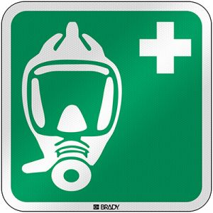 ISO Safety Sign - Emergency escape breathing device