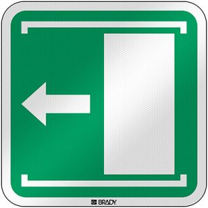 ISO Safety Sign - Door slides left to open