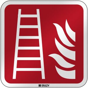 ISO Safety Sign - Fire ladder
