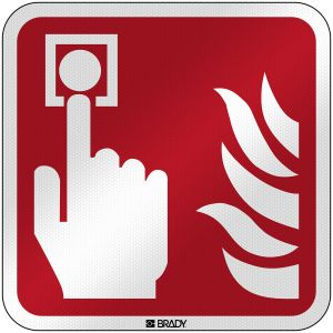 ISO Safety Sign - Fire alarm call point