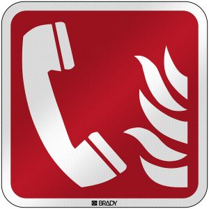 ISO Safety Sign - Fire emergency telephone