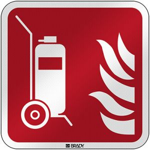 ISO Safety Sign - Wheeled fire extinguisher