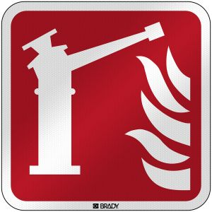 ISO Safety Sign - Fire monitor