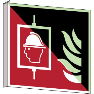 ISO Safety Sign - Firefighters' lift