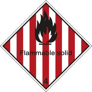 Maritime Transport Sign - IMDG 4A - Flammable solid