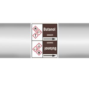 Roll form linerless Pipe Markers, with pictograms - Flammable/Non-Flammable Liquids/Oils