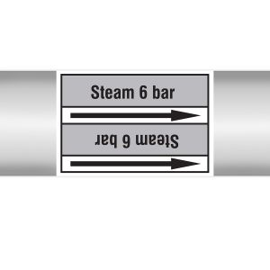 Roll form Pipe Markers with liner, without pictograms - Steam