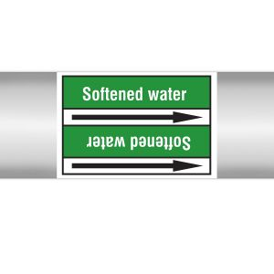 Roll form Pipe Markers with liner, without pictograms - Water