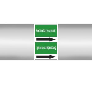 Roll form linerless Pipe Markers, without pictograms - Water