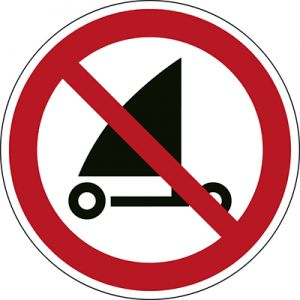 ISO Safety Sign - No sand yachting