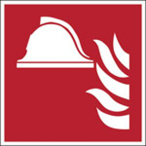ISO Safety Sign - Collection of fire-fighting equipment