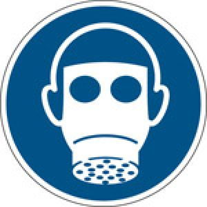 ISO Safety Sign - Wear respiratory protection