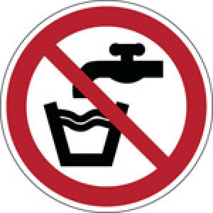 ISO Safety Sign - Not drinking water