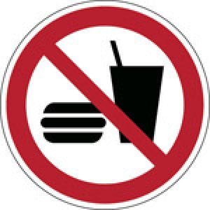 ISO Safety Sign - No eating or drinking