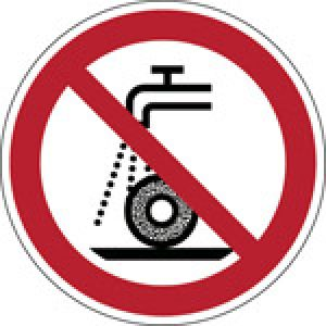 ISO Safety Sign - Do not use for wet grinding