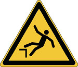 ISO Safety Sign - Warning; Drop (fall)
