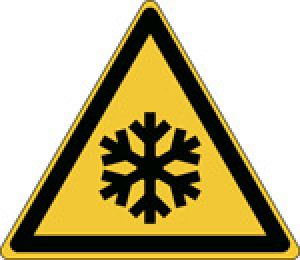 ISO Safety Sign - Warning: Low temperature/freezing conditions