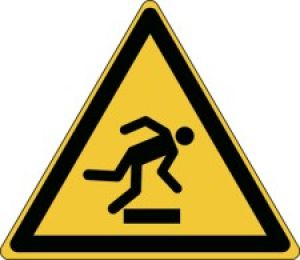 ISO Safety Sign - Warning; Floor level obstacle